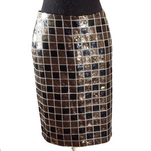 Monroe & Main Women's Sequin Pencil Skirt
